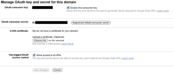 Getting the OAuth-keys